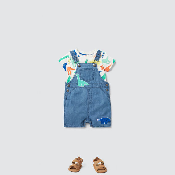 Dino Patches Overall  MID BLUE  hi-res