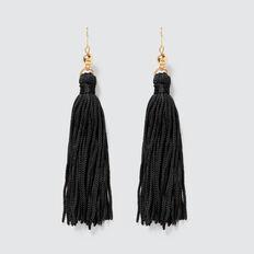 Tassel Earrings  BLACK  hi-res