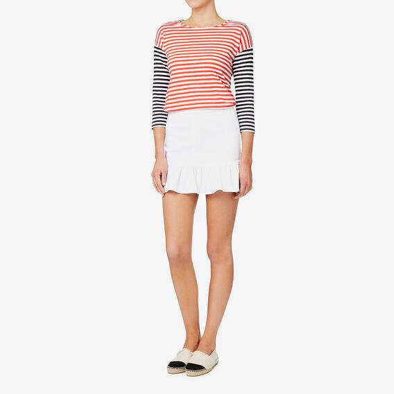 Frill Hem Skirt  BRIGHT WHITE  hi-res