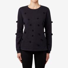Pom Pom Sweater  DEEP NAVY  hi-res
