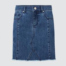 Panel Denim Skirt  DUSTY BLUE  hi-res