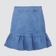 Twill Denim Skirt  BRILLIANT BLUE WASH  hi-res
