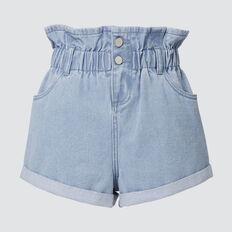 Paperbag Denim Short  BLUEBELLE WASH  hi-res