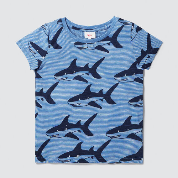 Shark Yardage Tee  CORNFLOWER BLUE  hi-res