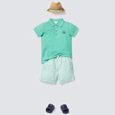 Happy Motif Polo  PARROT GREEN  hi-res