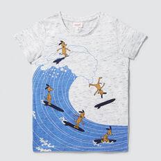 Surfer Dog Tee  VINTAGE WHITE MARLE  hi-res