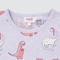 Dino Yardage Pyjama  LILAC MARLE  hi-res