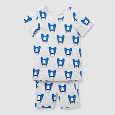 Leopard Yardage Pyjama  CLOUDY MARLE  hi-res
