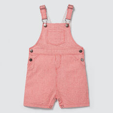 Woven Stripe Overall  FIRE ENGINE RED  hi-res