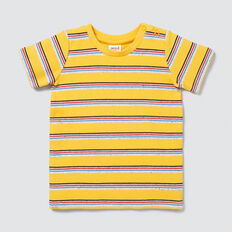 Rib Stripe Tee  SUNSHINE YELLOW  hi-res