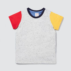 Colour Block Tee  CLOUDY MARLE  hi-res