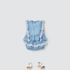 Chambray Ric Rac Shorts  SUMMER BLUE  hi-res