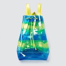 Stripe Jelly Backpack  BLUE  hi-res