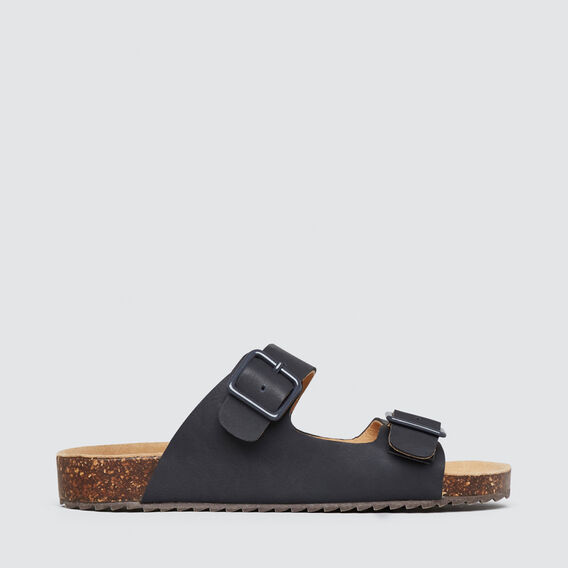 Double Buckle Slides  NAVY  hi-res
