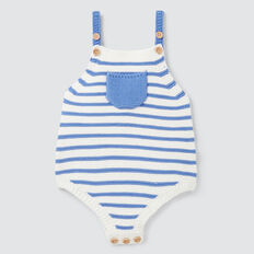 Knit Stripe Onesie  BRIGHT BLUEBELL  hi-res