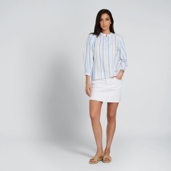 Stripe Cotton Shirt  COOL BLUE STRIPE  hi-res