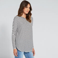 Easy Slouch Top  BLACK/CANVAS  hi-res