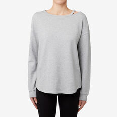 Cut-Away Sweater  MID GREY MARLE  hi-res