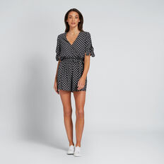 Wrap Front Romper  DIAMOND PRINT  hi-res
