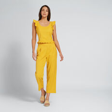 Relaxed Self Stripe Pant  AMBER YELLOW  hi-res