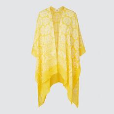 Summer Poncho  YELLOW/ WHITE  hi-res