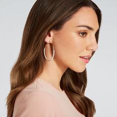Contrast Hoop Earrings  CREAM/GOLD  hi-res