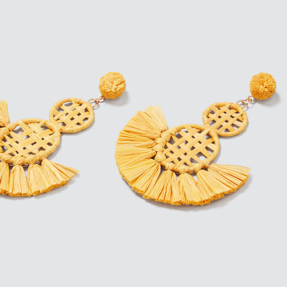 Raffia Weave Earring  AMBER YELLOW  hi-res