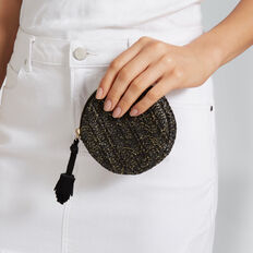 Circle Coin Purse  BLACK  hi-res