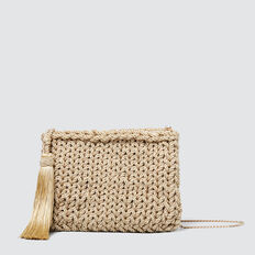 Woven Tassel Pouch  GOLD  hi-res