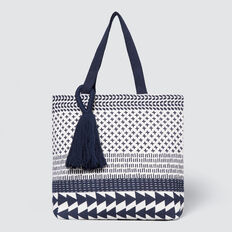 Noela Shopper Bag  WHITE/NAVY  hi-res