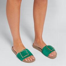 Sienna Buckle Slide  PEACOCK GREEN  hi-res