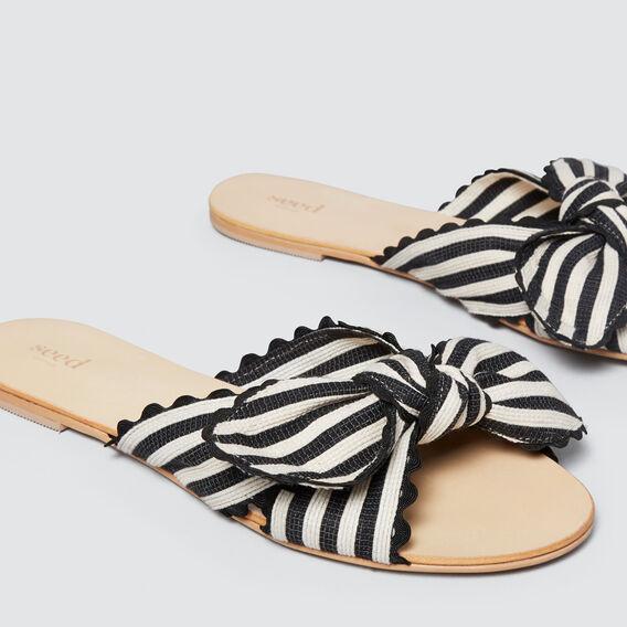 Bec Bow Slide  BLACK/CREAM  hi-res