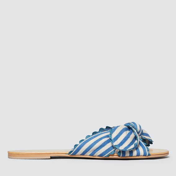 Bec Bow Slide  BLUE/CREAM  hi-res