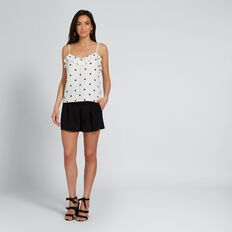 Spotty Frill Top  BLACK SPOT  hi-res