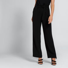 Paperbag Tie-Up Pant  BLACK  hi-res