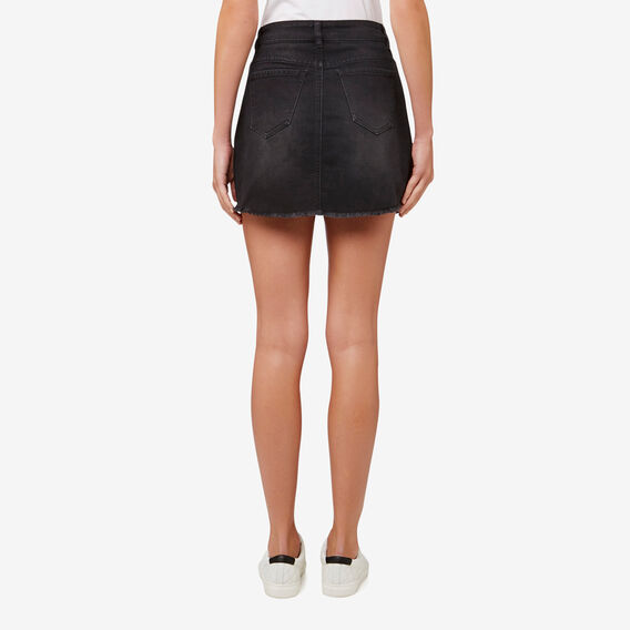 Denim Mini Skirt  CHARCOAL DENIM  hi-res