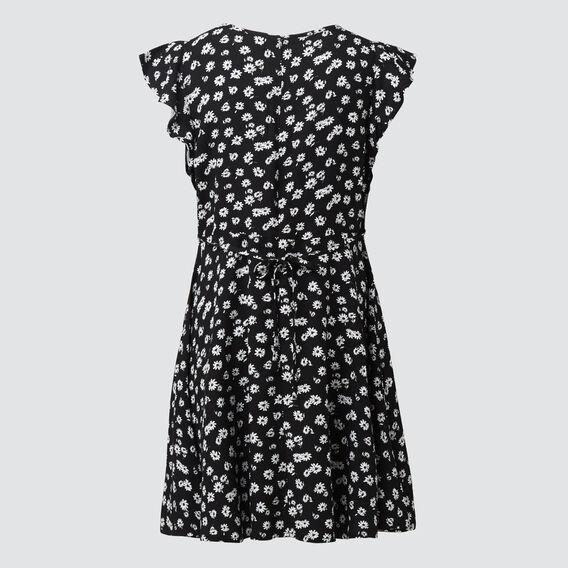 Floral Daisy Dress  BLACK  hi-res