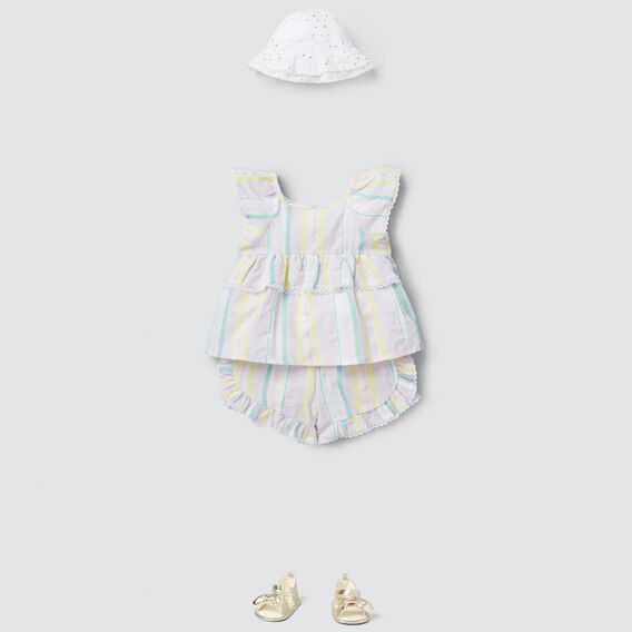 Rainbow Stripe Shorts  MULTI  hi-res