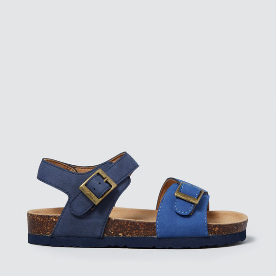 Colour Block Buckle Sandal  BLUE  hi-res