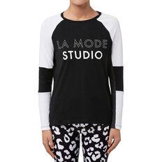 La Mode Studio Long Sleeve Tee  BLACK  hi-res