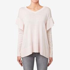 Frill V-Neck Sweater  ROSE MIST  hi-res