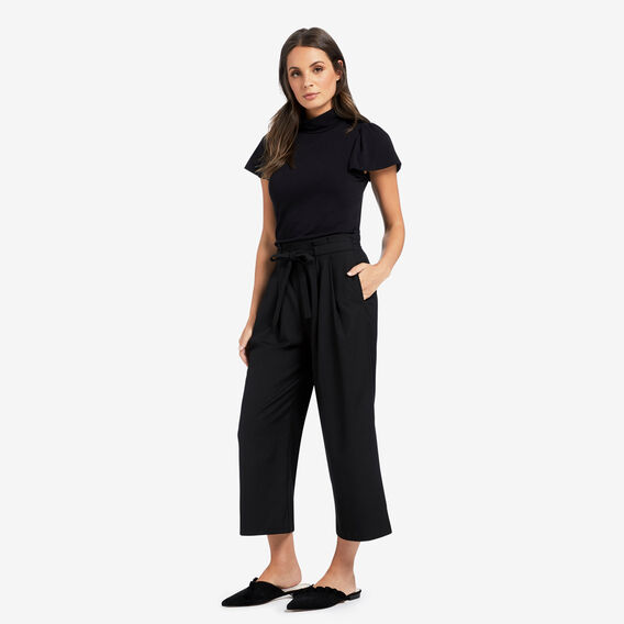 Wide-Leg Culotte  BLACK  hi-res