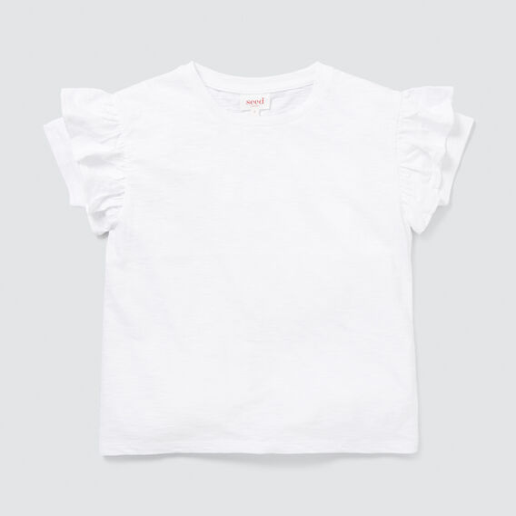 Frill Tee  WHITE  hi-res