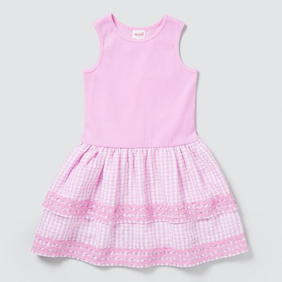 Splice Gingham Dress  BRIGHT LILAC  hi-res