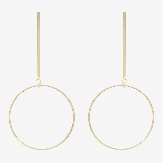 Circle Drop Earrings  GOLD  hi-res