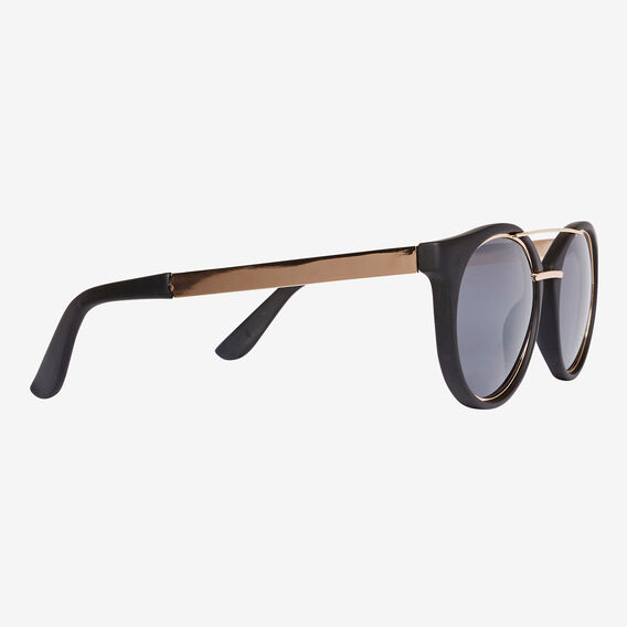 Sophie Round Sunglasses  BLACK  hi-res
