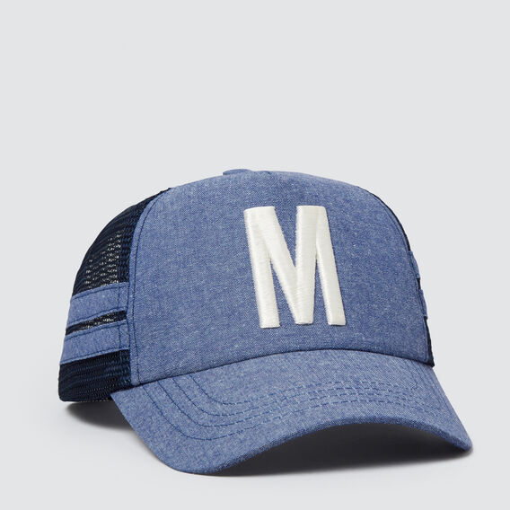 Boys' Initial Mesh Cap  M  hi-res