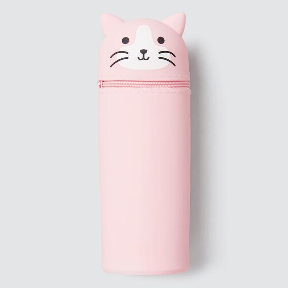 Cat Pencil Case  PINK  hi-res