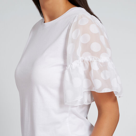 Contrast Sleeve Tee  WHISPER WHITE  hi-res