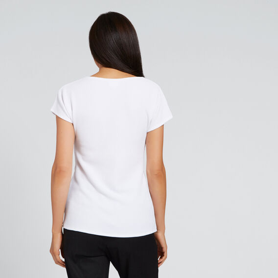 Gathered Front Tee  WHISPER WHITE  hi-res